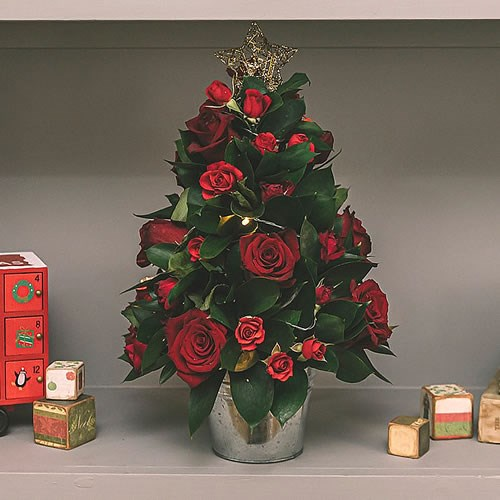 DIY Miniature Red Rose Xmas Tree Kit
