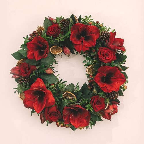 DIY Luxury Red Rose Wreath Kit