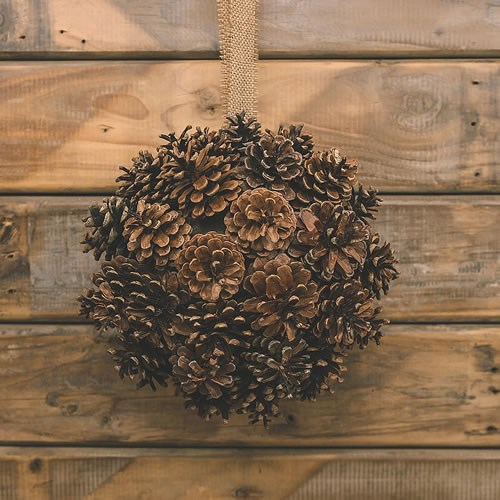 DIY Pine Cone Kissing Ball Kit