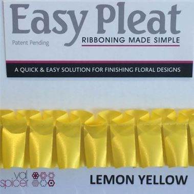 Easy Pleat Ribbon - Lemon Yellow