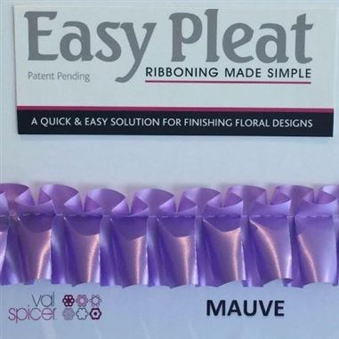 Easy Pleat Ribbon - Mauve