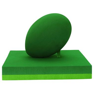 3D Rugby Ball on Pitch (30cm x 30cm x 33cm)