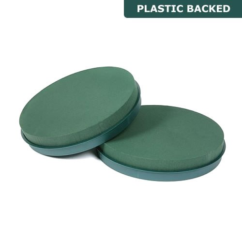 Floral Foam Posy Pads (Plastic Backed) 8""