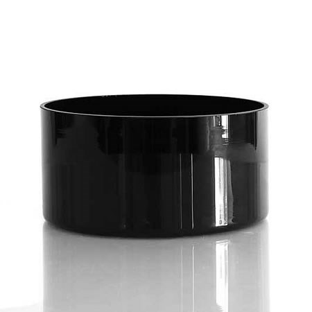 Glass Bowl Black - 20cm x 10cm