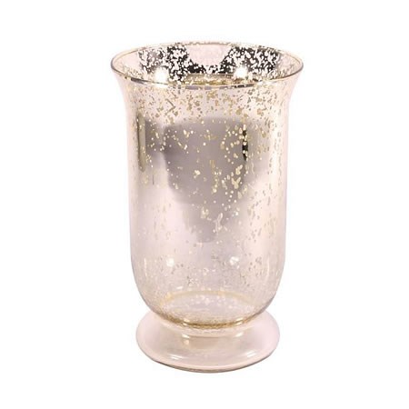Glass Hurricane Vase Champagne - 25cm