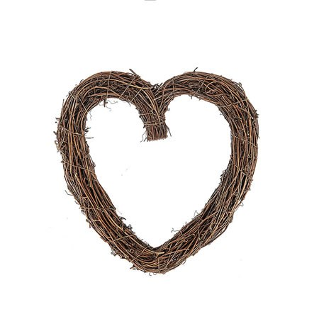 Heart Wreath Natural 30cm