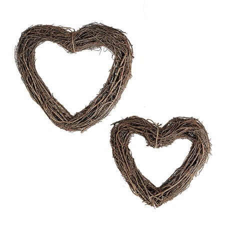 Heart Wreath Set (Natural Pine)