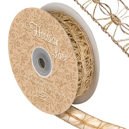 Ribbon Hessian Lace - 25mm