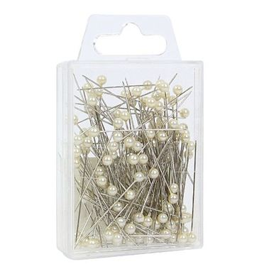 Ivory Pearl Headed Pins 7cm