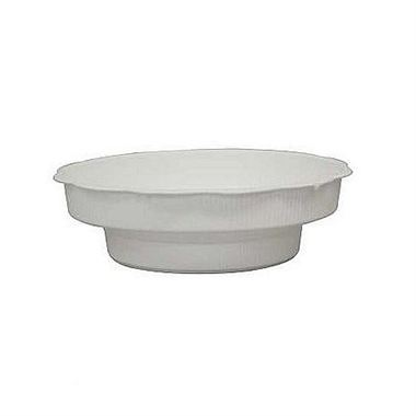 Plastic Junior Saucers White