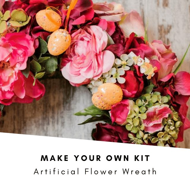 Make your Own Kit £25: Artificial Flower Wreath (inc VAT)
