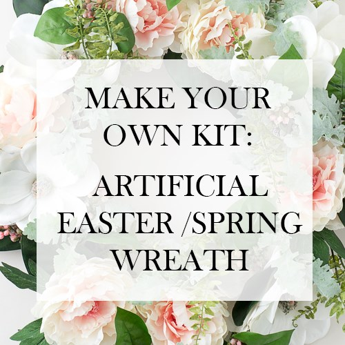 Make your Own Kit £25: Artificial Flower Spring Wreath (inc VAT)