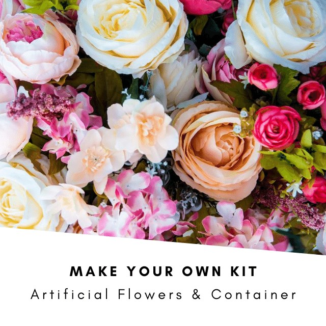 Make Your Own Kit: Artificial Flowers & Container (Inc VAT)