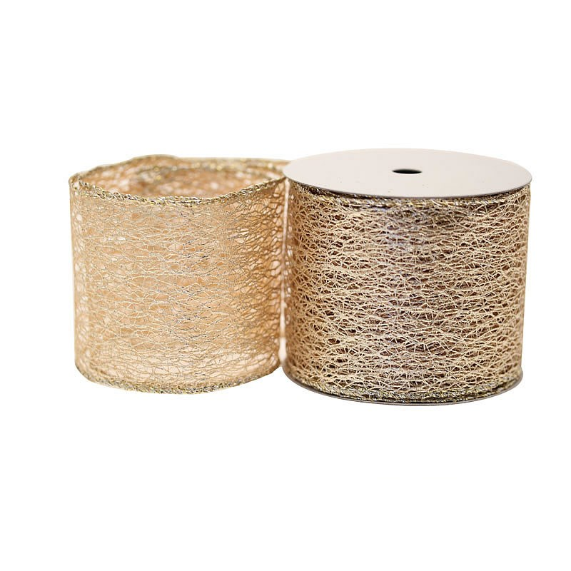 Metallic Gold Webbing Ribbon