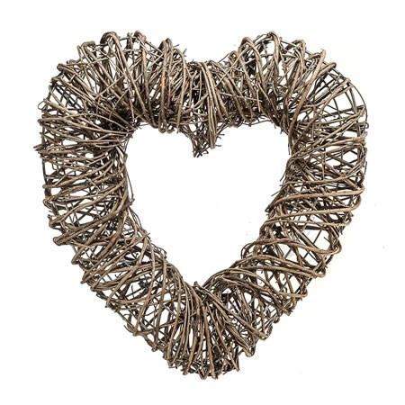 Heart Wreath - Natural Pine Twigs 50cm