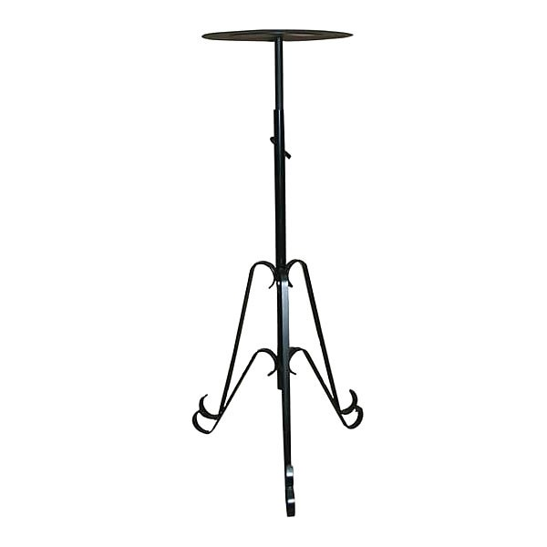 Pedestal Stand - Black Telescopic Flat Top