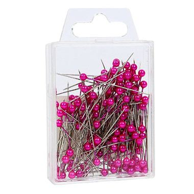 Pink Pearl Headed Pins 4cm