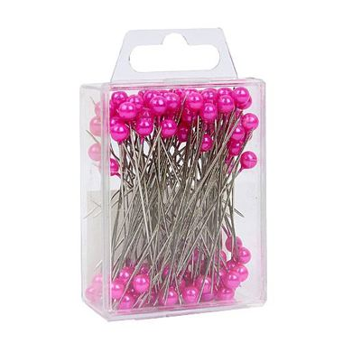 Pink Pearl Headed Pins 6cm