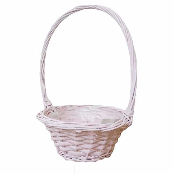 Pink Willow Basket - 20cm wide
