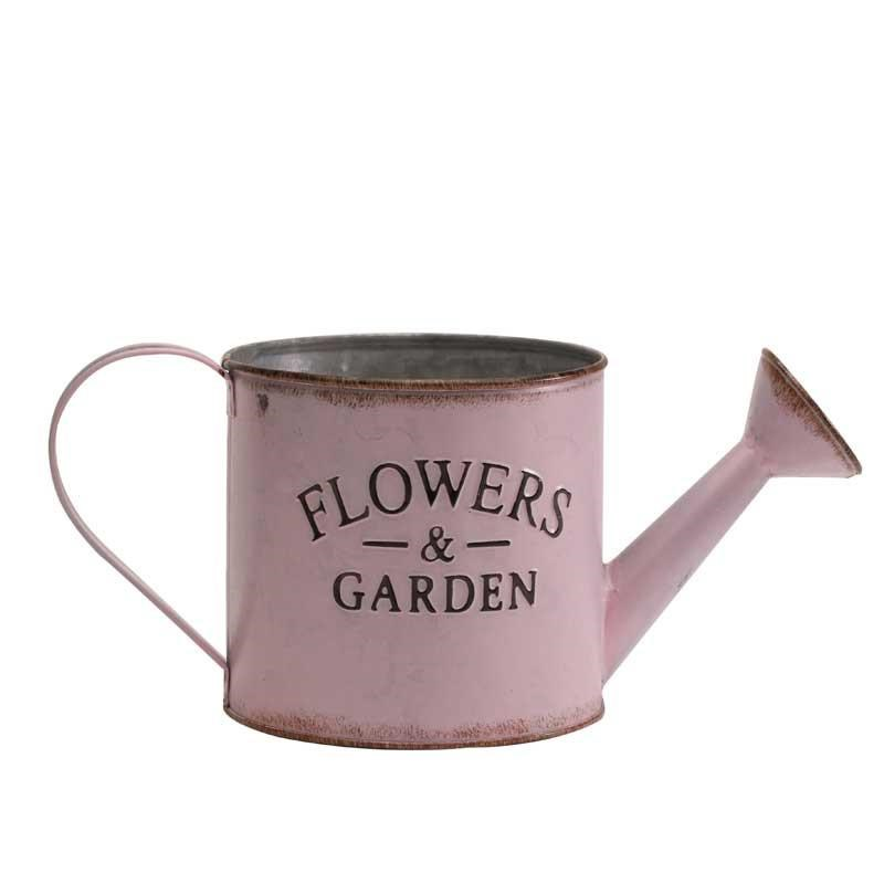 Zinc Watering Can - Pink