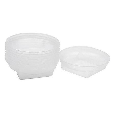 Plastic Square Round Dishes Clear