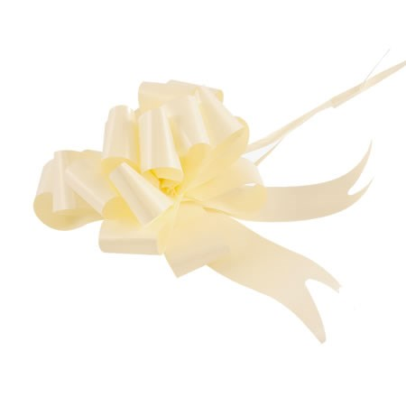 Ribbon Pull Bows Cream - 30mm