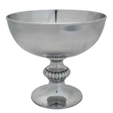 Punch Bowl - Silver Metal 26cm
