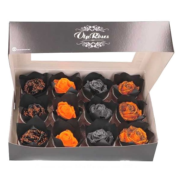 ROSE HEADS WAXED CUPCAKES HALLOWEEN