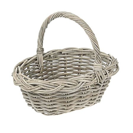 Rattan Basket with Handle (Small)
