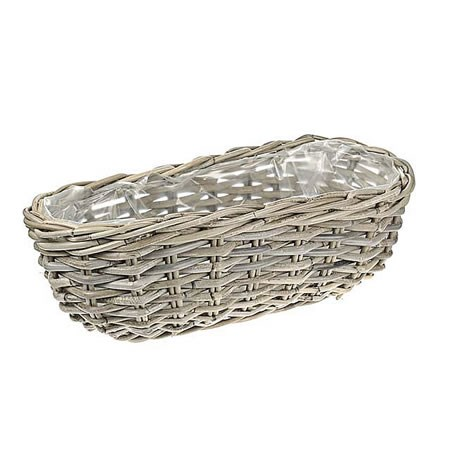 Rattan Basket - Large Oval Planter