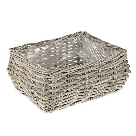 Rattan Basket - Medium Rectangle Planter