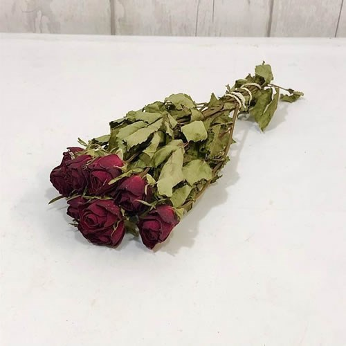 Red Spray Rose Bunch - Dried