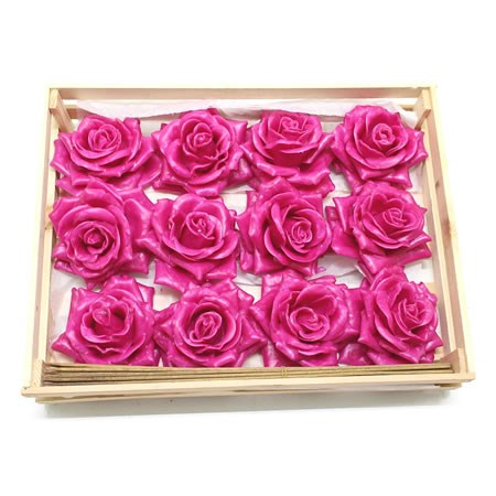 Rose Heads Waxed - Cerise