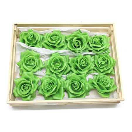 Rose Heads Waxed - Green