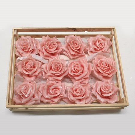 Rose Heads Waxed - Pink