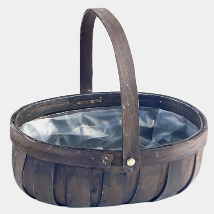 Rustic Trug - Dark Wood