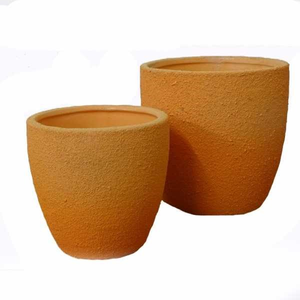 Orange Rustic Pots (Set of 2)