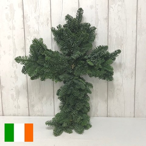 SPRUCE CROSS GREEN (IRISH) 75CM - HALF BOUND