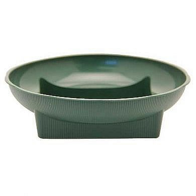 Plastic Large Square Round Dishes Green