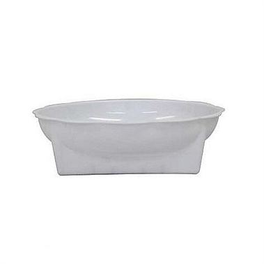 Plastic Square Round Dishes White