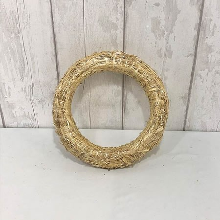 Straw Wreath Ring 30cm