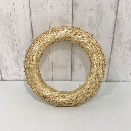 Straw Wreath Ring 35cm