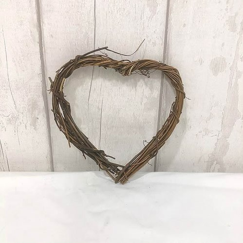 Vine Heart Wreath - Natural