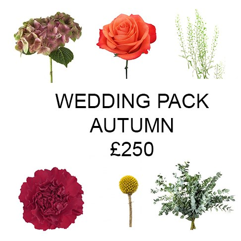 Wedding Flower Pack Autumn £250