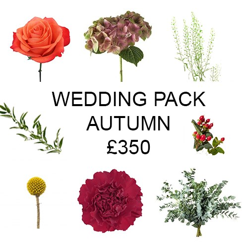 Wedding Flower Pack Autumn £350