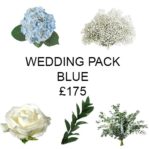 Wedding Flower Pack Blue £175
