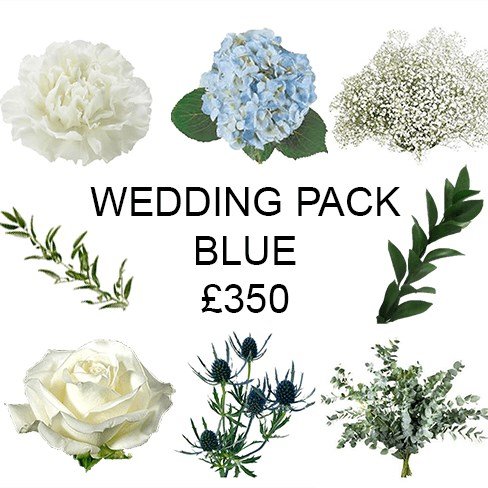 Wedding Flower Pack Blue £350