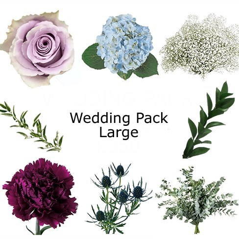 Wedding Flower Pack Blues & Lilac £350
