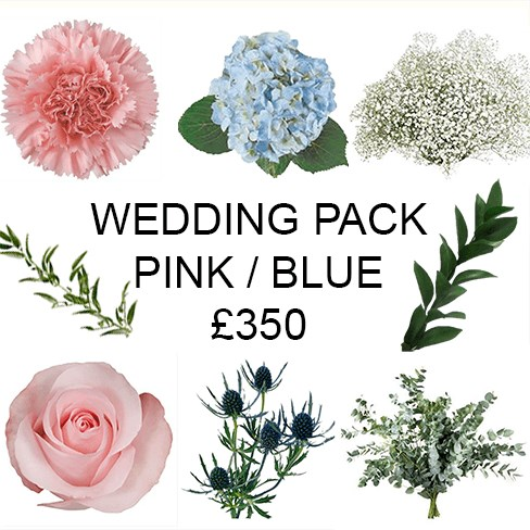 Wedding Flower Pack Blue & Pink £350