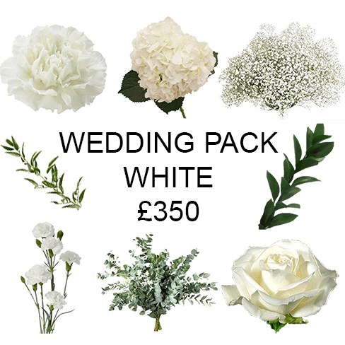 Wedding Flower Pack White £350